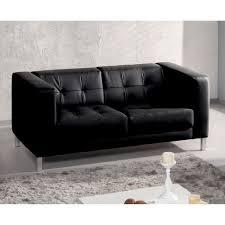 canapé capitonné design canapé simili capitonné design pieds métal charlton noir2 places