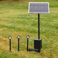 Outdoor Solar Landscape Lights Remote Solar Panel Lighting System By Free Light And
