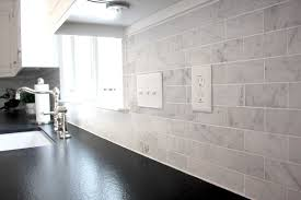 carrara marble subway tile kitchen backsplash detrit us