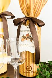 gift packaging for wine bottles handmade tag with no sew wine bottle gift wrap garden home party