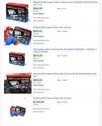 amazon black friday nes classic nintendo u0027s nes classic being sold for 1 000 on ebay and people