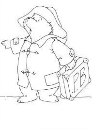 paddington bear travel town coloring
