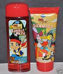 2pc jake land pirates shampoo bubble bath disney