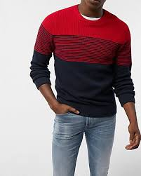 ribbed half zip mock neck sweater express