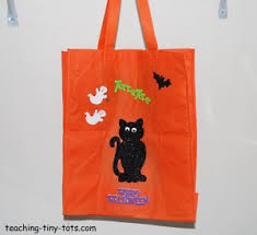 toddler activities decorate a bag for trick or treating