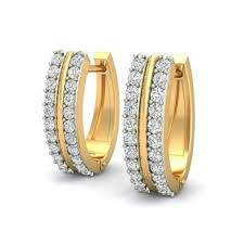 hoops earrings india indian style diamond hoops in 14k yellow gold buy 14kt gold hoop