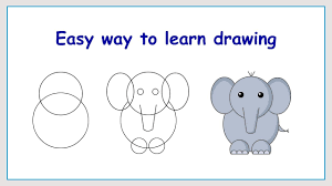 learn how to draw elephant in a simple way youtube