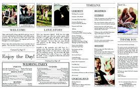 newspaper wedding programs is comic newspaper wedding detail