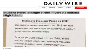 Straight Pride Flag Student Posts U0027straight Pride U0027 Flyers At Indiana High In