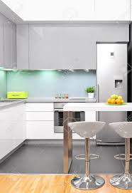 Modern Kitchen Interior Design A View Of A Modern Kitchen Interior Stock Photo Picture And