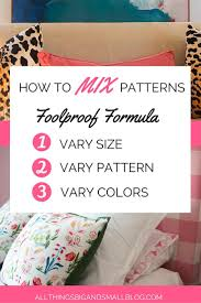 designer secrets how to mix patterns a foolproof formula for