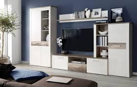 Schlafzimmer Antik Eiche Wohnwand Anbauwand 4 Teilig Pinie Weiß Antik Eiche 314cm Neu