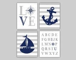 Nautical Theme by Nautical Nursery Art Etsy