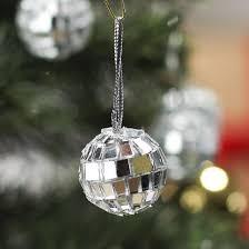 miniature mirrored mosaic disco ornaments