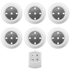 liger 6 pack led wireless puck lights with remote control for