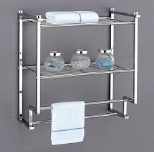 Bathroom Wall Shelves Bath Towel Storage Bathroom Wall Shelves With Towel Bar Bathroom