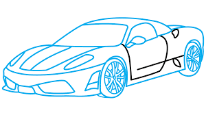 kid car drawing how to draw ferrari 360 a sports car easy step by step drawing