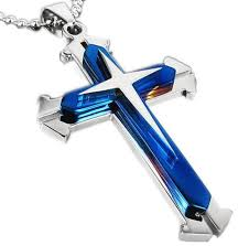steel cross necklace images Police thin blue line stainless steel cross pendant necklace jpg