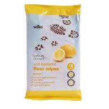 wilko antibacterial lemon floor wipes 15pk at wilko com
