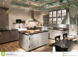 kitchen furniture store editorial stock photo kitchen in furniture store ikea
