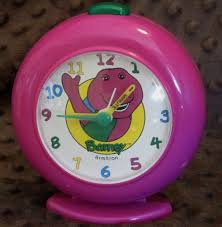 1993 barney the dinosaur u0026 baby bop alarm clock for children