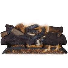 emberglow oakwood 24 in vent free propane gas fireplace logs with
