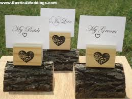 table number card holders rustic 4 weddings heart sted wood place card holders or table