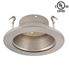baffle trim recessed lighting 4 inch recessed light trim with satin nickel baffle torchstar