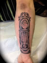 grandfather clock owl tattoo grandfather clock and tree tattoos on