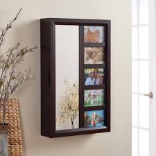 Jewelry Mirror Armoire Jewelry Mirror Armoire Wall Mount Jewelry Armoire With Mirror