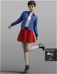 3d Fashion Design Software H U0026c Denim Jacket For Genesis 3 Female S 3d Models And 3d