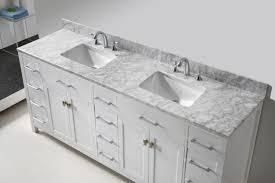 virtu usa caroline parkway 78 double bathroom vanity set in white