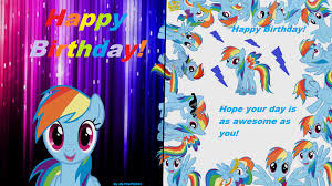 Mlp Birthday Card Mlp Rainbow Dash Birthday Card By Mlp Super 24 By Mlpsuper24 On