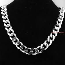 mens chain necklace silver images 17mm stainless steel necklace curb chain necklace huge heavy jpg