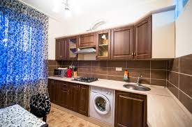 cuisine avec machine à laver luxury 3 rooms apartment in the of the city rostovskaya