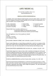 medical administrative assistant resume samples lukex co