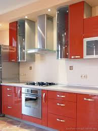 orange kitchen cabinets pictures of kitchens modern orange kitchens kitchen 3