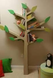 tree bookshelf with shelf brackets easy nursery
