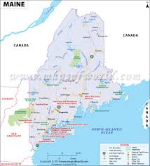 map of maine cities maine map showing the major travel attractions including cities