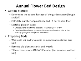 Flower Bed Plan - designing annual flower bed 6 19 2010