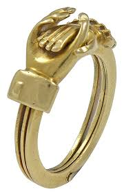betrothal ring an early 18kt gold clasped betrothal ring sue brown