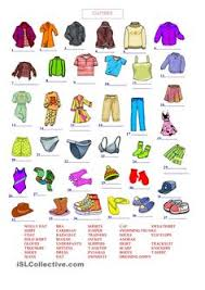 clothes vocabulary bilgi pinterest learning english