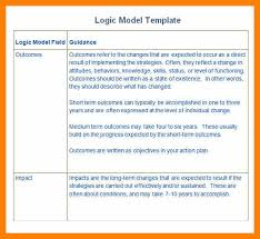 7 logic model template word service letters