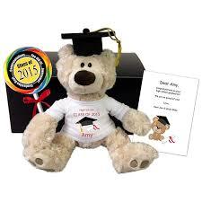 personalized graduation teddy personalized graduation teddy gift set 12 gund beige