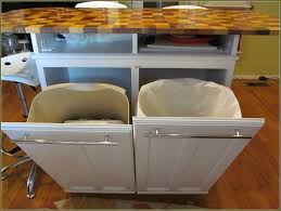 Kitchen Island With Garbage Bin Under Cabinet Trash Can Holder Best Home Furniture Decoration