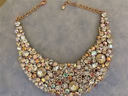 gold chain bib necklace images Rose gold bridal jewelry collection the crystal rose bridal jpg