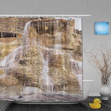 Custom Bathroom Shower Curtains Waterfall Bathroom Shower Curtains Shower