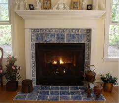stunning fireplace design ideas indoor plant blue tile home
