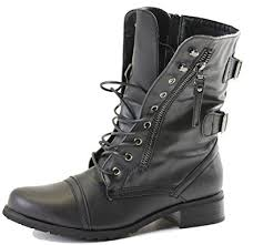 womens combat boots uk womens lace up ankle combat army style black