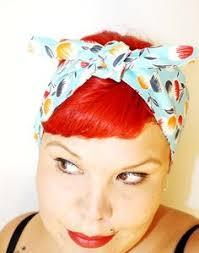 1940s bandana hairstyles dolls print hair bow bandana head scarf retro rockabilly by lilajo